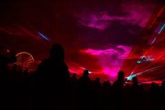 Manifestazione 3 del laser Immagine Stock