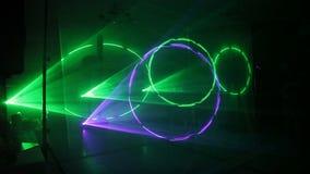 Manifestazione del laser dei dai raggi colorati multi stock footage