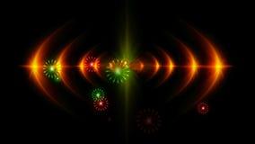 manifestazione del laser di magia illustrazione di stock