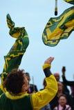 manifestazione del portatore di bandiera Immagine Stock