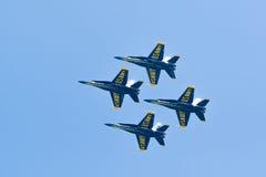 Manifestazione dell'aria e dell'acqua di Chicago, angeli blu della marina statunitense Fotografie Stock Libere da Diritti
