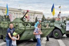 Manifestazione dell'attrezzatura dell'esercito Fotografia Stock