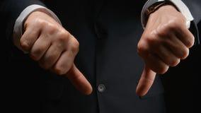 Manifestazione dell'uomo d'affari un'AVVERSIONE di gesto da entrambe le mani Fotografia Stock Libera da Diritti