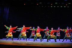 Manifestazione della città universitaria di ballo- del ragazzo del ballo-tibetano degli stivali da equitazione Fotografia Stock Libera da Diritti