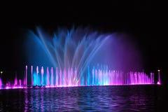 Manifestazione della fontana di Wroclaw Fotografia Stock