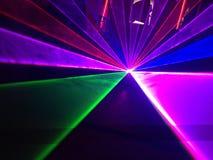 Manifestazione della luce laser fotografia stock