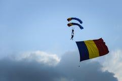 Manifestazione di acrobazie aeree fotografia stock libera da diritti