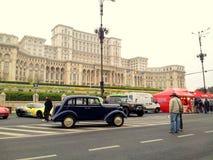 Manifestazione di automobile davanti al palazzo del Parlamento Fotografia Stock