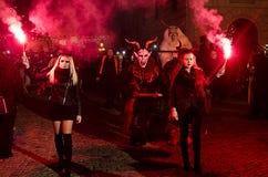 Manifestazione di Krampus Fotografia Stock