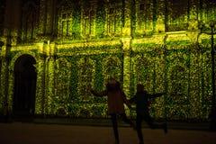 manifestazione di Luminoso musical sulle pareti dell'eremo dello stato Fotografie Stock