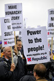 Manifestazione di repubblicanesimo Fotografie Stock