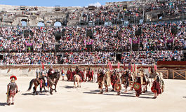 Manifestazione di Romani Fotografia Stock