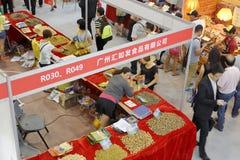 Manifestazione di specialità di Canton nelle fiere dell'alimento Fotografia Stock