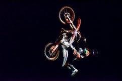 Manifestazione di stile libero della motocicletta Fotografia Stock