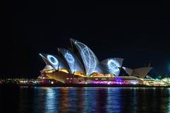 Manifestazione di Sydney Vivid fotografie stock