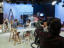 Manifestazione di TV La Aventura del Saber Immagini Stock Libere da Diritti