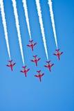 Manifestazione di volo del gruppo dell'aria Fotografia Stock Libera da Diritti