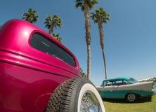 Manifestazione e lustro di automobile classici Fotografia Stock Libera da Diritti