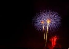 Manifestazione/Guy Fawkes Night dei fuochi d'artificio Fotografia Stock