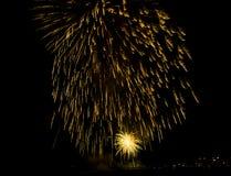 Manifestazione/Guy Fawkes Night dei fuochi d'artificio Fotografie Stock Libere da Diritti