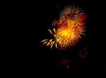 Manifestazione/Guy Fawkes Night dei fuochi d'artificio Immagini Stock