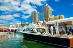 Manifestazione internazionale della barca di Miami fotografie stock
