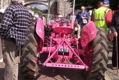 Manifestazione rosa di agricoltura del trattore Fotografia Stock Libera da Diritti