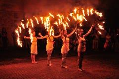 Manifestazione tradizionale del fuoco immagine stock