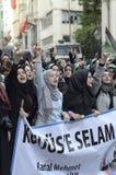 Manifestazione X A di Mavi Marmara Fotografie Stock