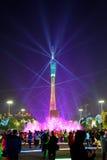 2016 manifestazioni cinesi di illuminazione del nuovo anno nel quadrato di Canton Huacheng Immagine Stock