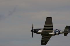 Manifestazioni del mustang P-51 è bande Immagini Stock Libere da Diritti