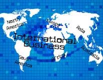 Manifestazioni dell'internazionale di affari attraverso The Globe e corporativo Fotografia Stock