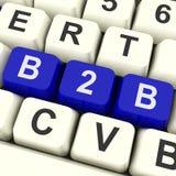 Manifestazioni di chiave di B2b che vendono commercio o affare Immagini Stock