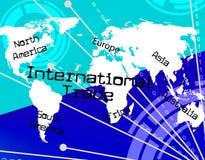 Manifestazioni di commercio internazionale attraverso The Globe e l'importazione Fotografia Stock Libera da Diritti
