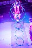 Manifestazioni relative alla ginnastica del mondo del circo di Jeju Fotografie Stock Libere da Diritti