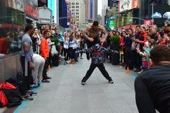 Manifestazioni/Times Square della via di New York Fotografie Stock Libere da Diritti