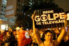 Manifeste à Sao Paulo/au Brésil photographie stock