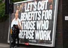 Manifeste de David Cameron, Angleterre Images libres de droits