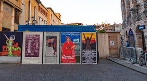 Manifesti d'annata di Verona dei Di dell'arena, all'aperto fotografia stock libera da diritti