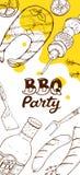Manifesti del partito del Bbq Immagine Stock