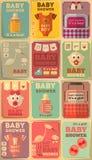 Manifesti della doccia di bambino Fotografia Stock