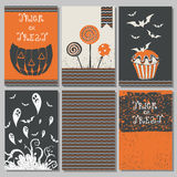 Manifesti di Halloween messi illustrazione di stock