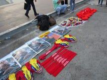 manifesti di presidente chavez Venezuela Fotografie Stock Libere da Diritti