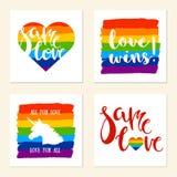 Manifesti di sostegno di LGBT Immagini Stock