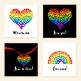 Manifesti di sostegno di LGBT Fotografia Stock Libera da Diritti