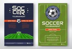Manifesti di torneo di calcio Fotografia Stock Libera da Diritti