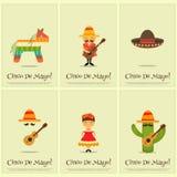 Manifesti messicani illustrazione di stock