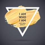 Manifesto acrilico quadrato di sogno del colpo di motivazione Iscrizione del testo di un detto ispiratore Modello tipografico del Fotografia Stock Libera da Diritti