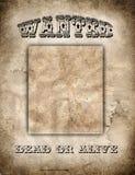 MANIFESTO AD OVEST SELVAGGIO Fotografia Stock