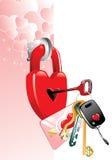 Manifesto al giorno del biglietto di S. Valentino Fotografie Stock